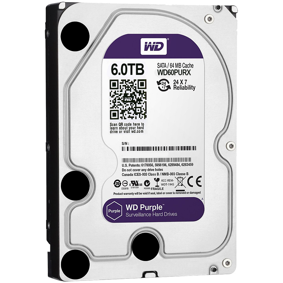 Western Digital Purple 6TB 64MB 5400rpm