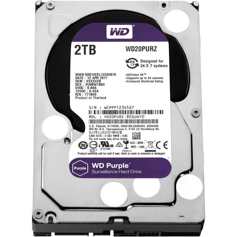 Western Digital Purple 2TB 64MB 5400rpm