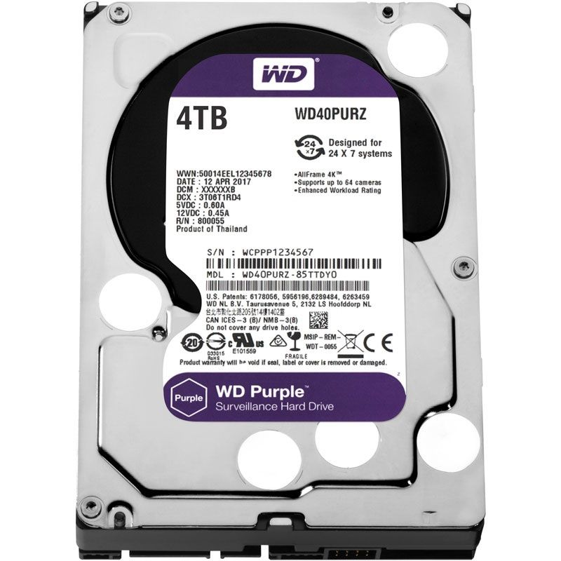 Western Digital Purple 4TB 64MB 5400rpm